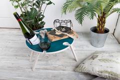 Складной столик для вина,изумрудный, фото 1