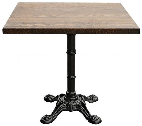 стол с чугунным подстольем