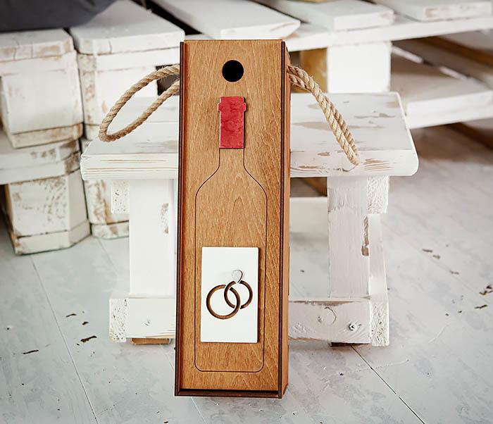 BOX260-2 Коробка для винной церемонии на свадьбу (33*10*10,5 см) фото 04