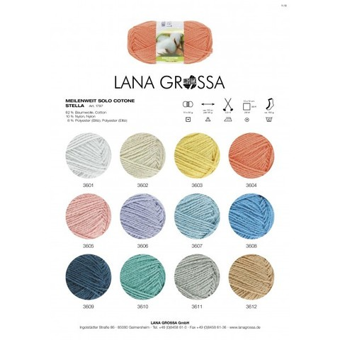 Lana Grossa Meilenweit Solo Cotone Stella 3606