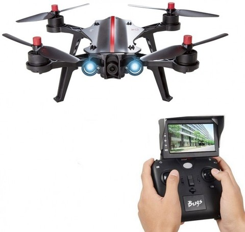 Радиоуправляемый квадрокоптер MJX Bugs 8 + FPV экран + FPV камера RTF 2.4G - MJX-B8-D43-C5830