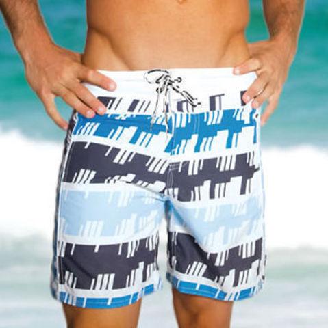 Мужские плавательные шорты Aussiebum Beach Shorts Geometrical Blue