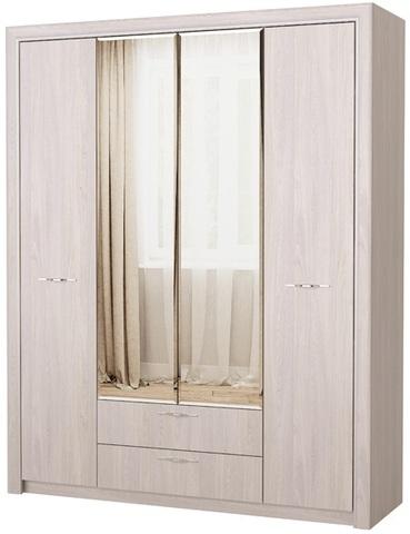 Шкаф Октава с зеркалом 4С2Я анкор