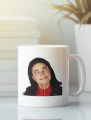 Кружка с изображением Майкла  Джексона (Michael Jackson) белая 003