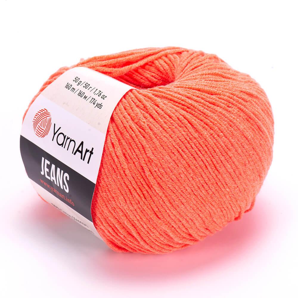Пряжа YarnArt Jeans 61 оранжевый