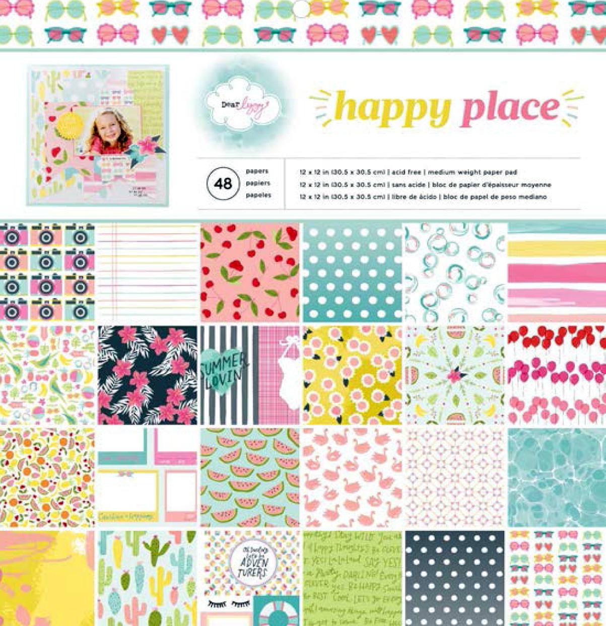 Набор односторонней бумаги Dear Lizzy Happy Place 30х30см