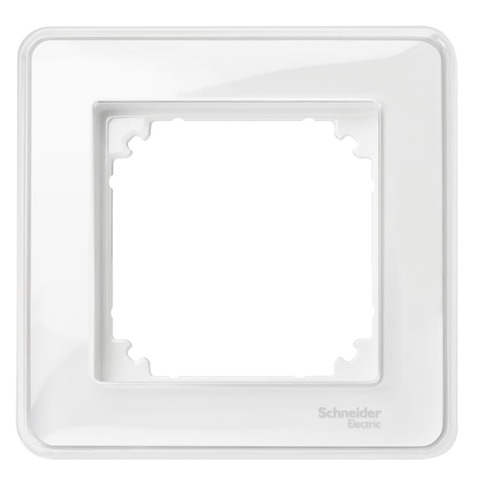 Рамка на 1 пост. Цвет Прозрачный. Merten. M-Creativ System M. MTN4010-3500
