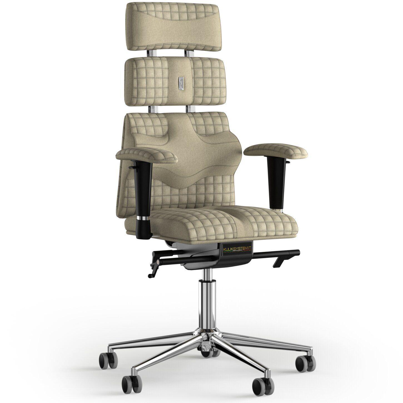 Кресло KULIK SYSTEM PYRAMID Ткань с подголовником со строчкой