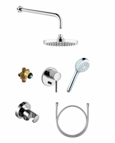 Набор встраиваемого смесителя с ручным и верхним душем для ванны Kludi Bozz 386300576