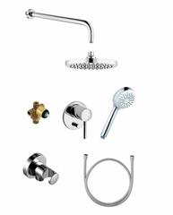 Набор встраиваемого смесителя с ручным и верхним душем для ванны Kludi Bozz 386300576 фото