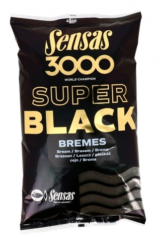 Прикормка Sensas 3000 Super BLACK Bremes 1кг