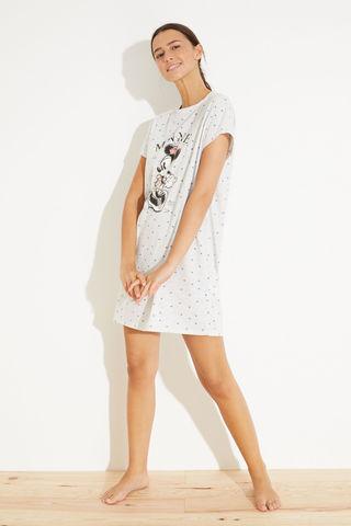 Короткая хлопковая ночная рубашка «Минни Маус»