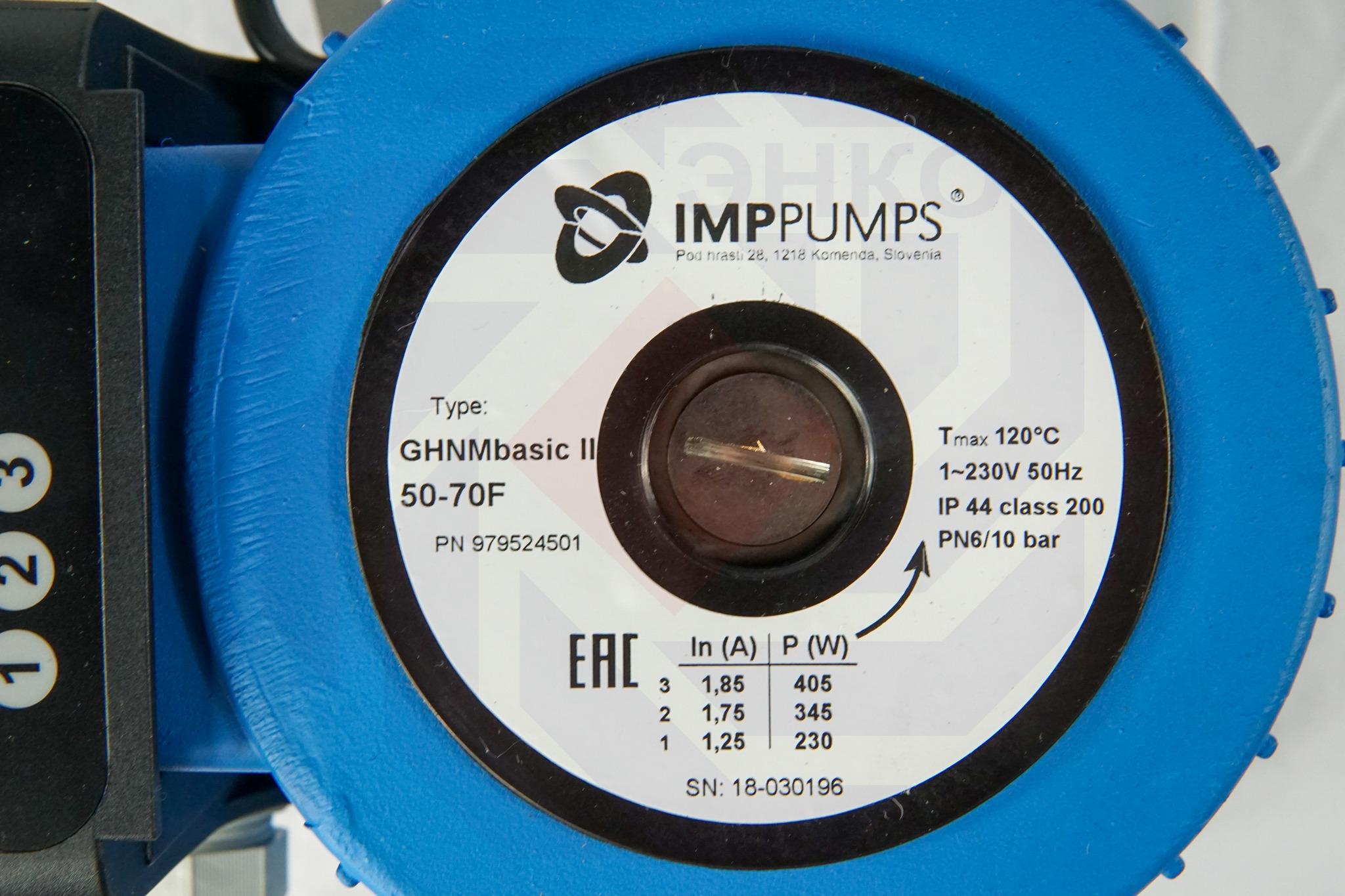 Насос циркуляционный IMP GHNM Basic II 50-70 F