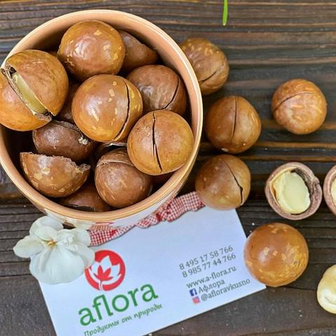 Фотография Макадамия в скорлупе ( Вьетнам) / 500 г купить в магазине Афлора