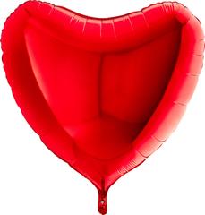 Большая сердце 81 или 90 см на атласной ленте