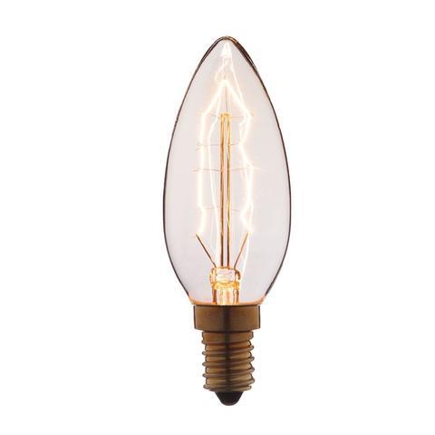 Лампа накаливания E14 60W свеча прозрачная 3560