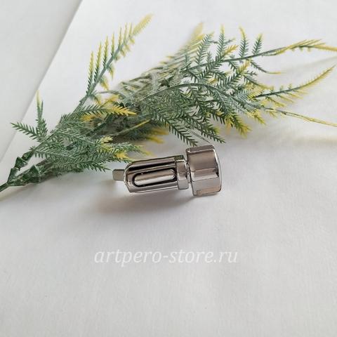 Застежка для портфеля 4 * 1 см., никель