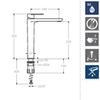 Смеситель для раковины высокий ALEXIA 3602NC никель - фото №2