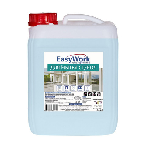 Средство для стекол и зеркал EasyWork 5 л