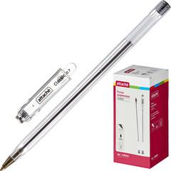Ручка шариковая Attache Classic черная (толщина линии 0.7 мм)