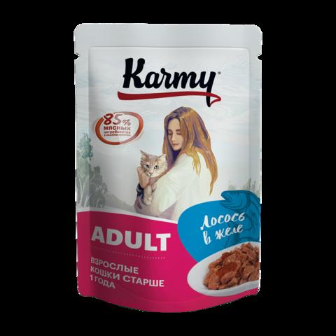 Karmy Консервы для кошек с лососем в желе (пауч)