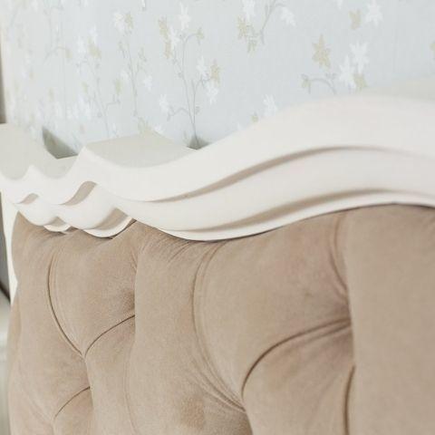 Кровать Айно 18 с мягким изголовьем (скандик белый)