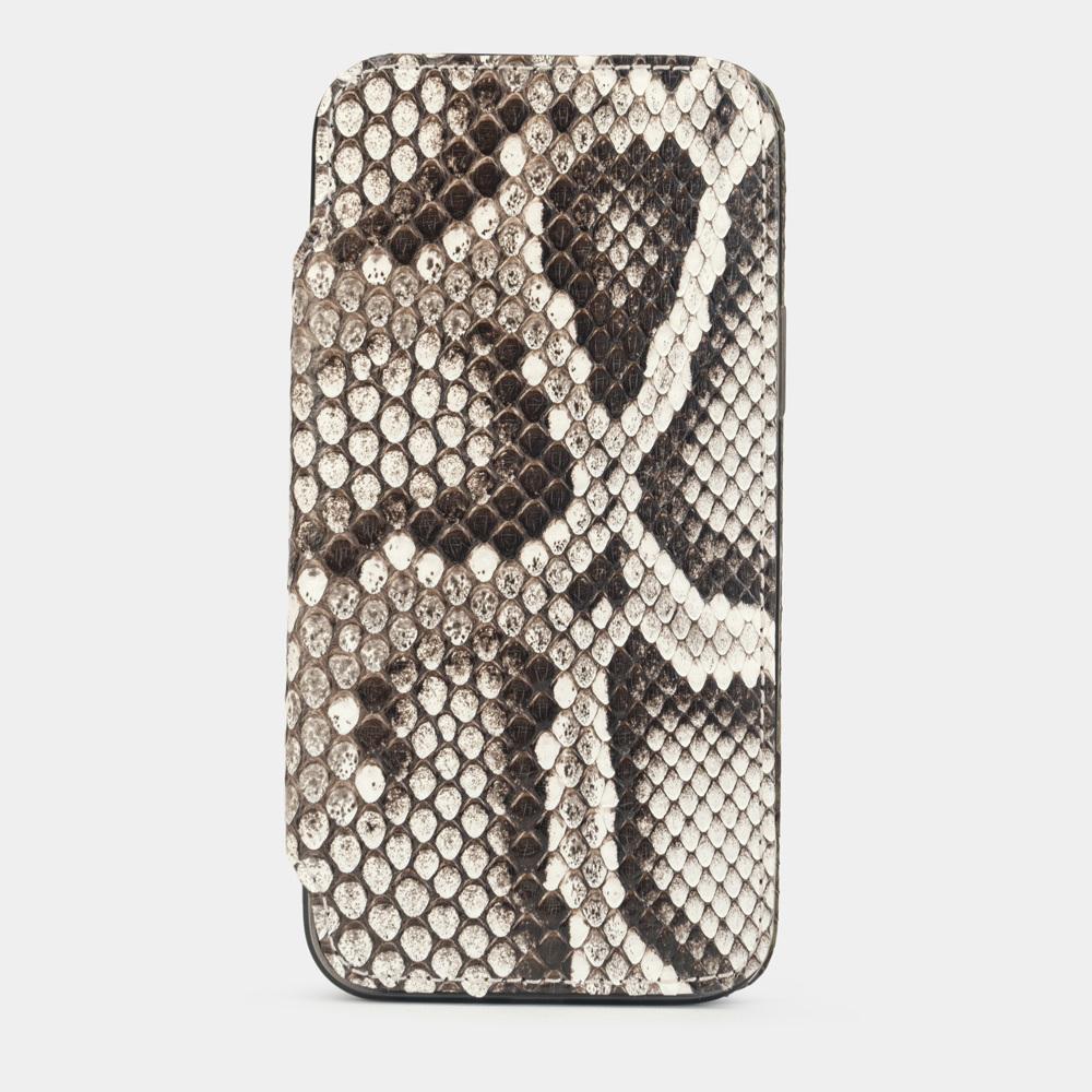 Чехол Benoit для iPhone 12/12Pro из натуральной кожи питона, цвета Natur