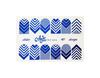 Фольга для дизайна ногтей цвет синий 40 купить за 120руб
