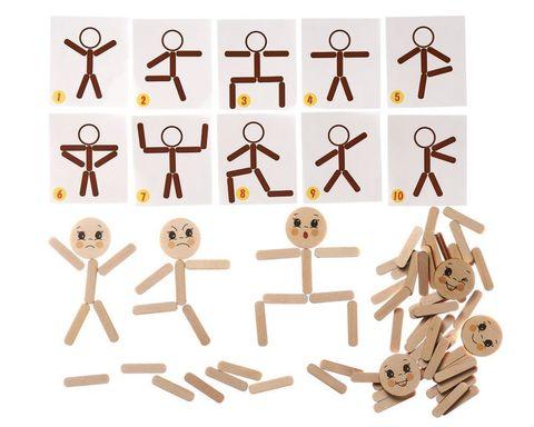 Мозаика из палочек Человечки Smile decor П705