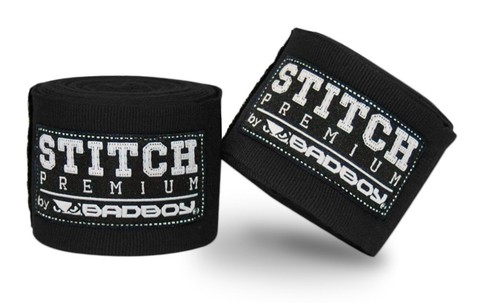 Бинты Bad Boy Stitch Premium Hand Wraps - Black 5m