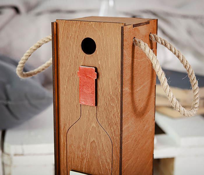 BOX260-2 Коробка для винной церемонии на свадьбу (33*10*10,5 см) фото 07