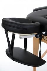 Массажный стол деревянный 3-хсекционный RESTPRO VIP OVAL 3 Black