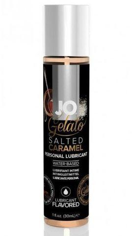 Лубрикант с ароматом солёной карамели JO GELATO SALTED CARAMEL - 30 мл.