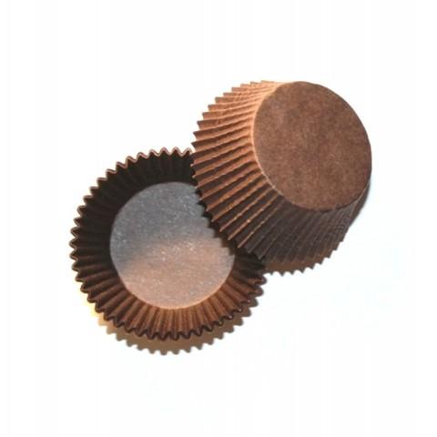 Капсулы для капкейков, коричневые 50х30 мм, 25 шт
