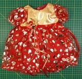 Арт. д900-81-43 -Платье рождественское (ДИСКОНТ) - Красный. Одежда для кукол, пупсов и мягких игрушек.