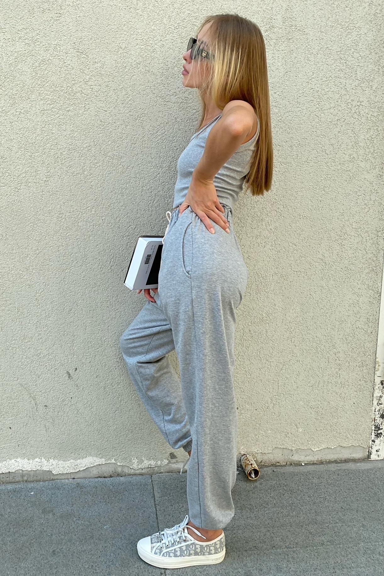 Костюм топ и брюки, серый