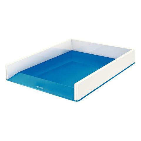 Лоток для бумаг горизонтальный Leitz Wow синий/белый