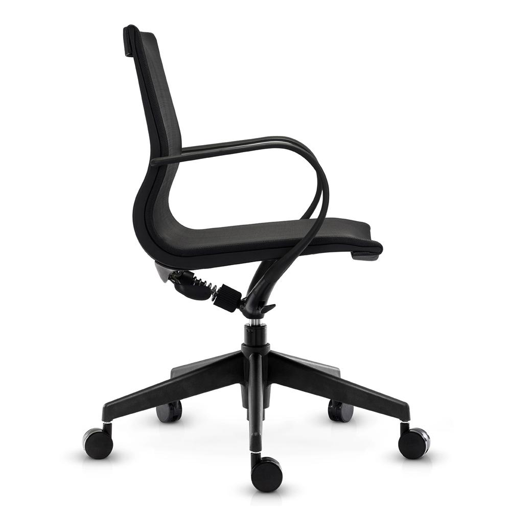 Кресло Mercury LB черная сетка, черный пластик - вид 3