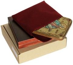 Инкрустированная икона Первоверховный апостол Павел 20х15см на натуральном дереве в подарочной коробке