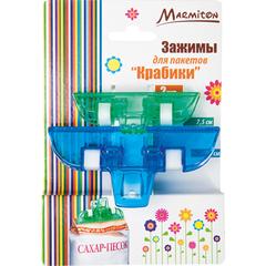 Зажимы для пакетов «Крабики» 2 шт 10 см и 7,5 см