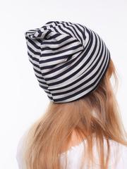 Полосатая вискозная летняя шапочка, модель унисекс