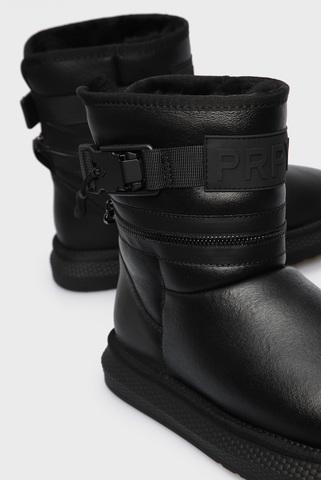Женские черные кожаные угги PRPY