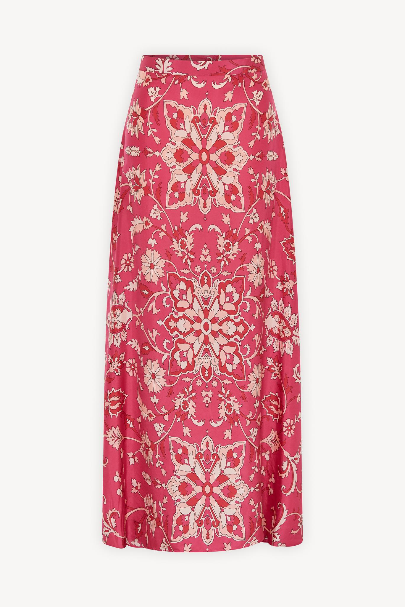 LALIA - Длинная шелковая юбка с принтом
