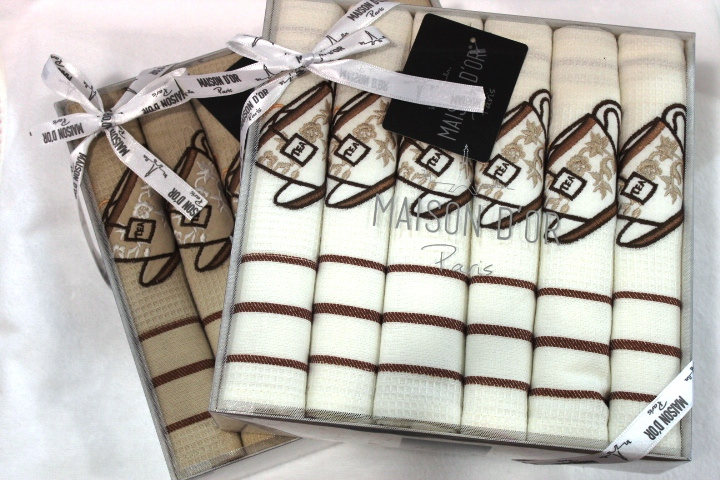 Кухонные полотенца Набор салфеток для кухни  EKOSE - ЭКОСЕ в размере 50х70 Maison Dor  Турция EKOSE.JPG