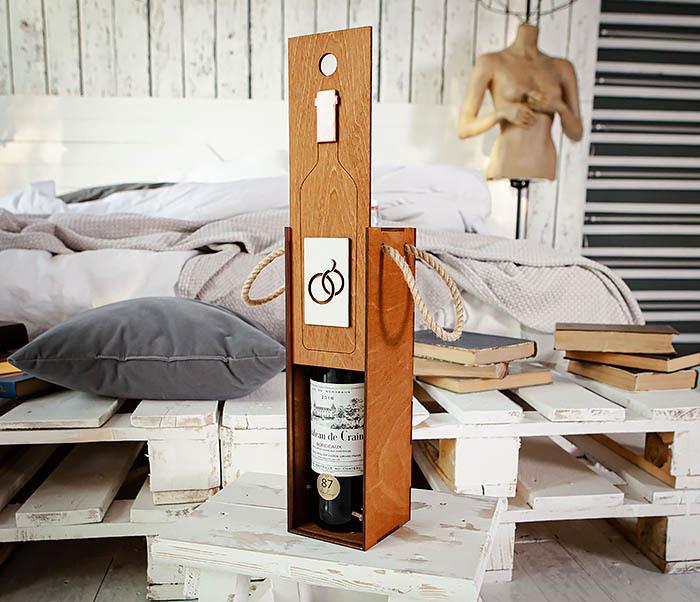 BOX260-2 Коробка для винной церемонии на свадьбу (33*10*10,5 см) фото 08