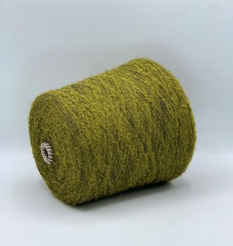 Бобинная пряжа (пр.Италия), 1300м/100гр,77%акрил 23%па,цвет-Зелено-желтый арт.10787