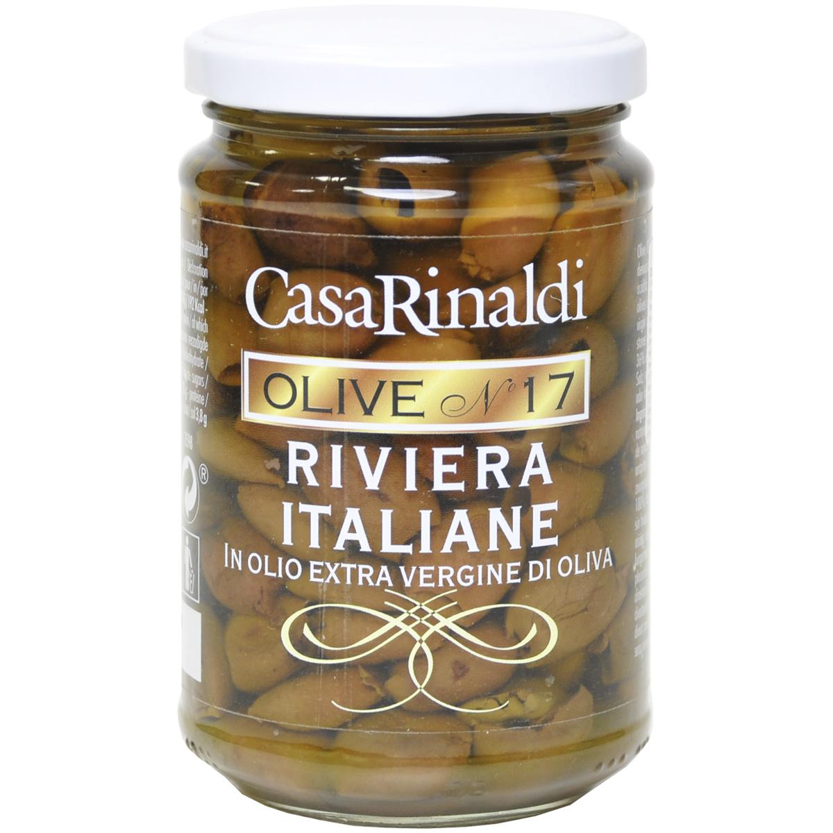 Оливки Casa Rinaldi Ривьера Таджаске в масле без косточки 290 г