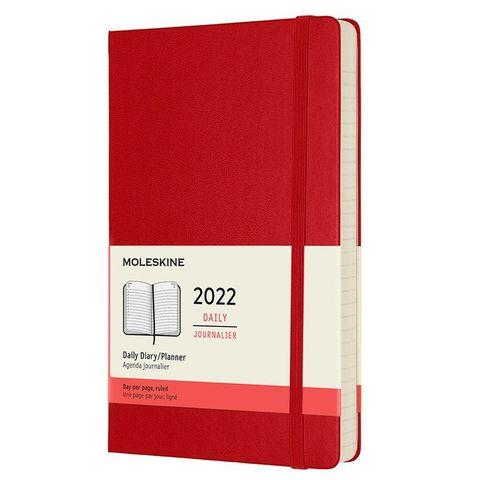 Ежедневник Moleskine (DHF212DC3) Classic Large 130х210мм 400стр. красный