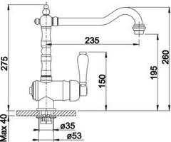 Смеситель Blanco Tradon (хром) - схема