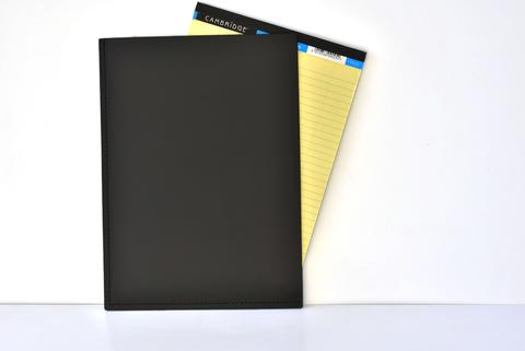 Папка-уголок А4 из кожи цвет черный